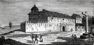 Grabado de La Rábida del año 1849. / Foto: Juan Saldaña.
