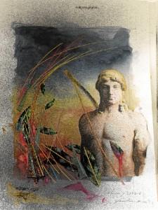 Apolo y Dafne, una de las últimas creaciones de la Metamorfosis de Faustino.