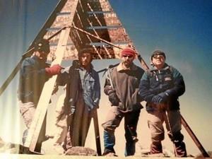 En la Cima del Turcal, el lugar más alto de Marruecos en el Atlas, con 4167 metros.