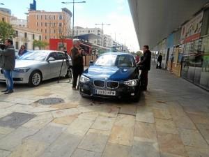 Los BMW y MINI se encuentran a la entrada del Mercado del Carmen