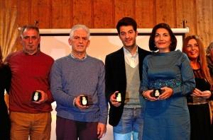 Imagen de los cuatro premiados.