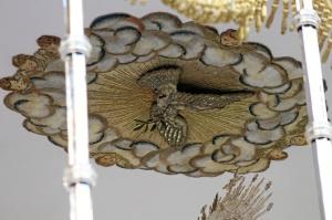 Detalle del techo del paso de palio.