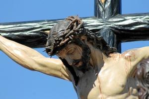 Nuestro Padre Jesús del Perdón en su salida este Lunes Santo.