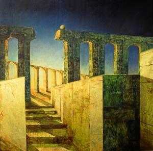 La mente en fuga, expuesta en el Museo de Huelva en 2007.
