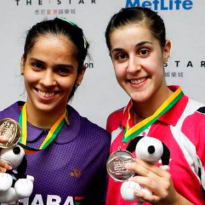 Como ocurrió en el torneo de la India, Carolina fue plata y Nehwal oro.