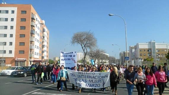 El Distrito V celebra la marcha por la Igualdad