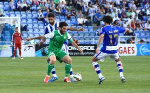 Menosse y Pedro Ríos pueden jugar este domingo su último partido con el Recre.