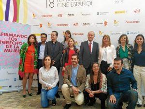 Carlos Troncoso, el segundo de izquierda a derecha en la fila de abajo. / Foto: Festival de Cine de Málaga.