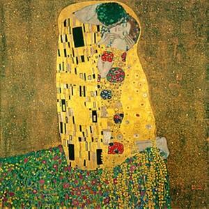El beso, de Gustav Klint.