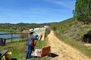Concurso de pintura rápida del Puerto la Laja.