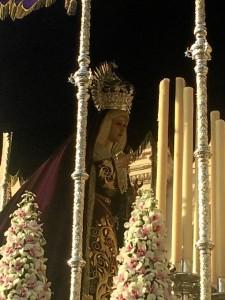 Palio de María Santísima de la Resignación.