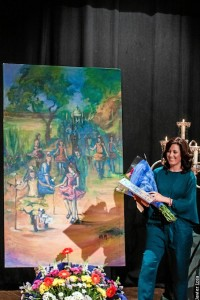 La pintora ayamontina Laura Rodríguez.
