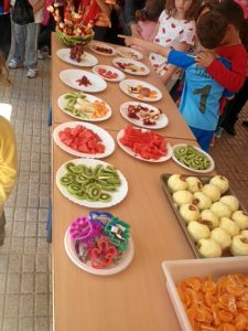 Jornada saludable celebrada en el colegio Manuel Siurot.
