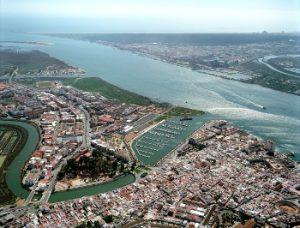 Vista aérea de Ayamonte.