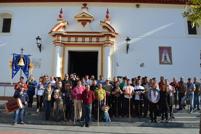 Un grupo de peregrinos fue recibido en la localidad sanjuanera.