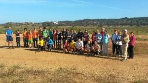 Grupo de personas que realizaron el senderismo.