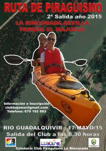 Cartel anunciador de la prueba de piragüismo en La Rinconada.