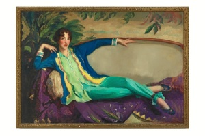Gertrude Vanderbilt Whitney, painted by Robert Henri