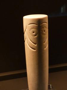 Ídolo hallado en el Seminario y expuesto en el Museo Provincial.