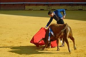 Para muchos niños fue la primera vez que veían a un torero.