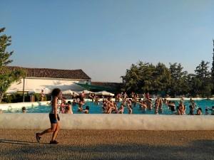 Sesión de Aquagym, una de las últimas actividades organizadas por el Ayuntamiento de Cañaveral de León este mes de agosto.