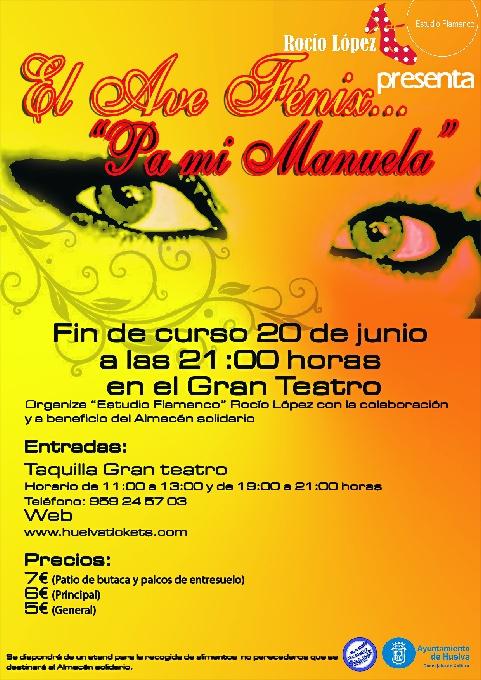 Solidaridad y compromiso en el estreno del espectáculo flamenco 'El Ave Fenix pa mi Manuela'