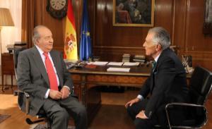 En una entrevista al Rey Juan Carlos. / Foto: Casa Real.