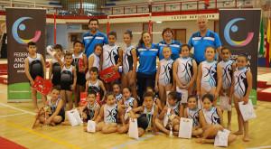 Representantes del Club Gimnasia Olímpica Onubense en el Campeonato celebrado en Sevilla.