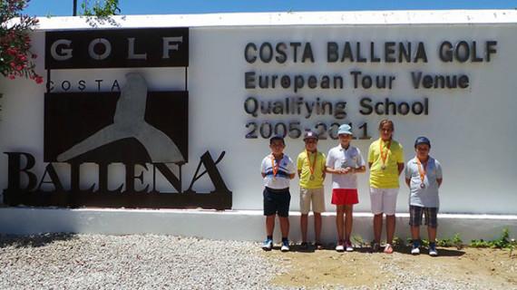 La Academia de Chris Truter de Ayamonte brilló con luz propia en el I Torneo de Costa Ballena Golf Junior