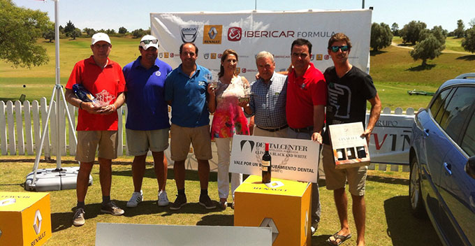 Los ganadores en la prueba disputada en Jerez del Circuito Atlántico de Golf.