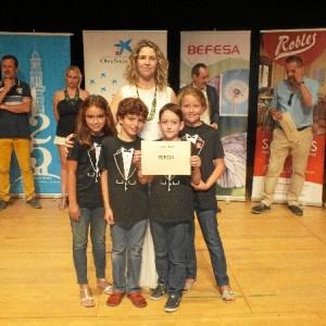 El segundo premio Befesa, de 500 euros, fue para el cuarteto de clarinete de Cazalla (Sevilla).