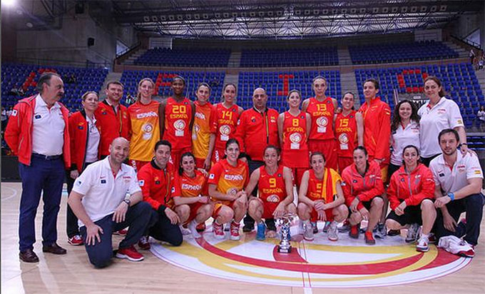 Selección española de baloncesto femenino.