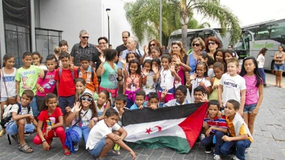 Huelva se convierte en el destino de unas 'Vacaciones en paz' para 140 menores saharauis