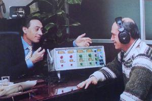 Imagen del audioeducador, el aparato inventado por Domínguez para combatir la sordera.