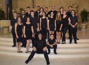 Los solistas tras la actuación en la iglesia del Carmen.
