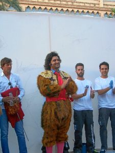 Morante, disfrazado de lince ibérico.