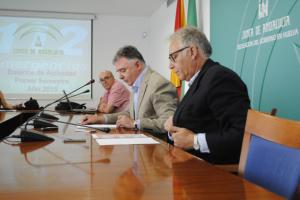 Rueda de prensa en la que Francisco José Romero ha ofrecido los datos del primer semestre del 112.