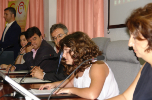 La niña Nadia Muñoz leyó un manifiesto.