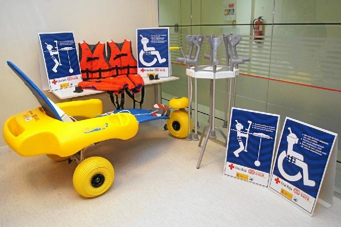 Imagen del kit de accesibilidad para personas con movilidad reducida.
