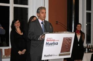 Juan Antonio Márquez, recogiendo la Mención Especial de HBN al ser elegida esta propuesta como una de las Mejores Noticias de 2014. /Foto: Jessica Berrio.