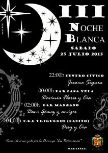 Cartel de la III Noche Blanca de Trigueros.
