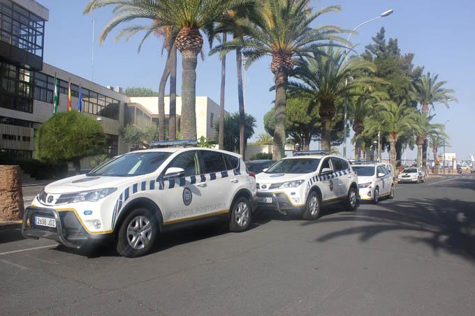 Los nuevos vehículos de la Policía portuaria de Huelva.