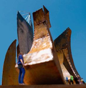 Otra imagen de la maqueta del monumento. / Foto: Paco Gómez.