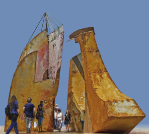 Imagen de la maqueta del monumento homenaje a Miss Whitney. / Foto: Paco Gómez.