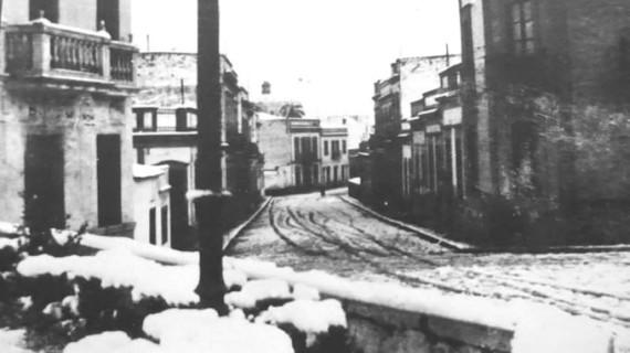 Calle Aragón en la década de los 50 del siglo XX