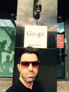 Abraham ha estado en la sede de Google en Dublín en el marco del proyecto Embajadores.