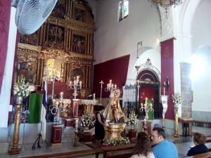 La Bajada tenía lugar en la Parroquia de Nuestra Señora de Las Angustias.