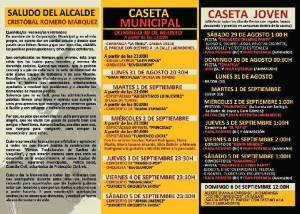 Programa de las Fiestas Taurinas triguereñas.