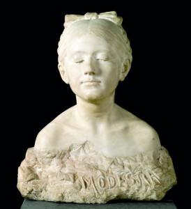 Escultura 'Modestia', de Antonio Pinto Soldán.