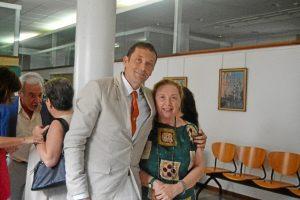 Juan Carlos Romero, con Alida Carloni, la directora de su tesis.